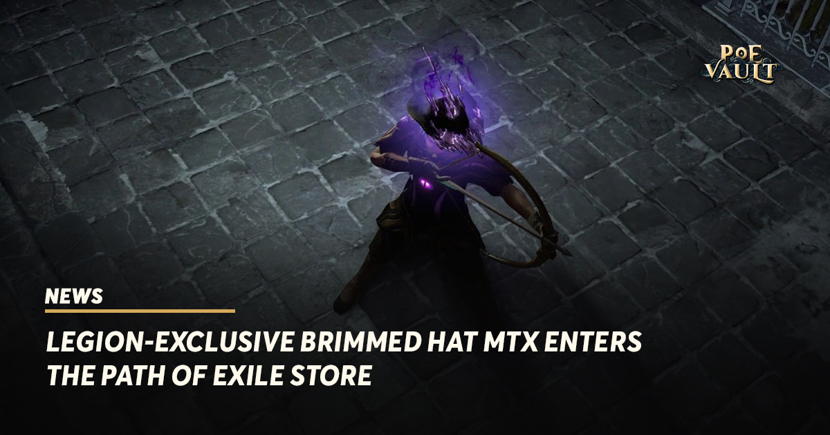 Legion-Exclusive Brimmed Hat Microtransaction Enters the