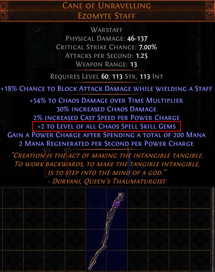 Cane of Unravelling