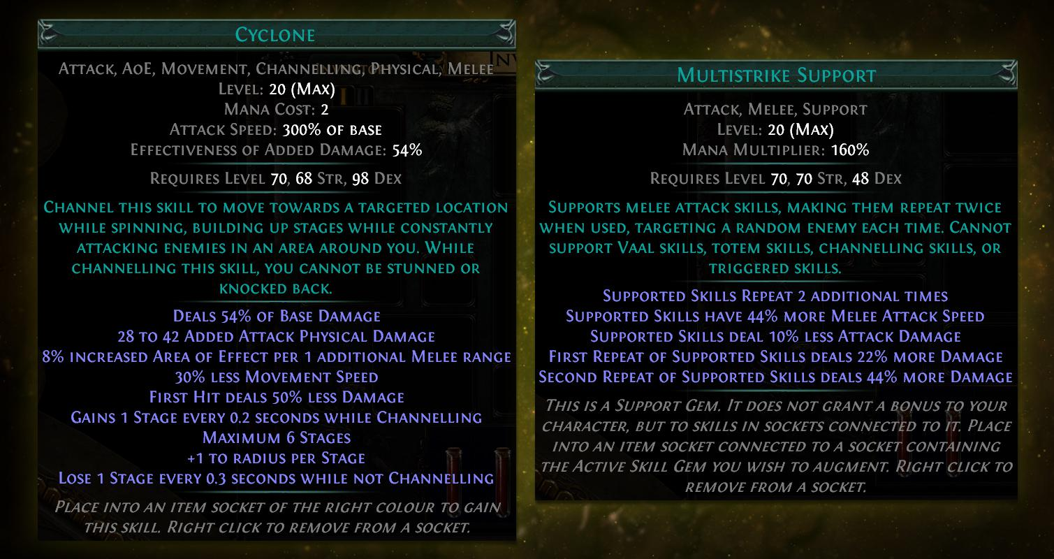 cyclone and multistrike