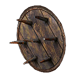 Driftwood Spiked Shield