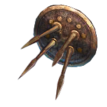 Alloyed Spiked Shield