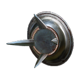 Burnished Spiked Shield