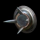 Polished Spiked Shield