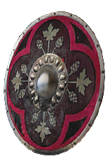 Crimson Round Shield