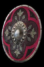 Crimson Round Shield