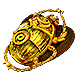 Gilded Sulphite Scarab