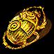 Gilded Sulphite Scarab